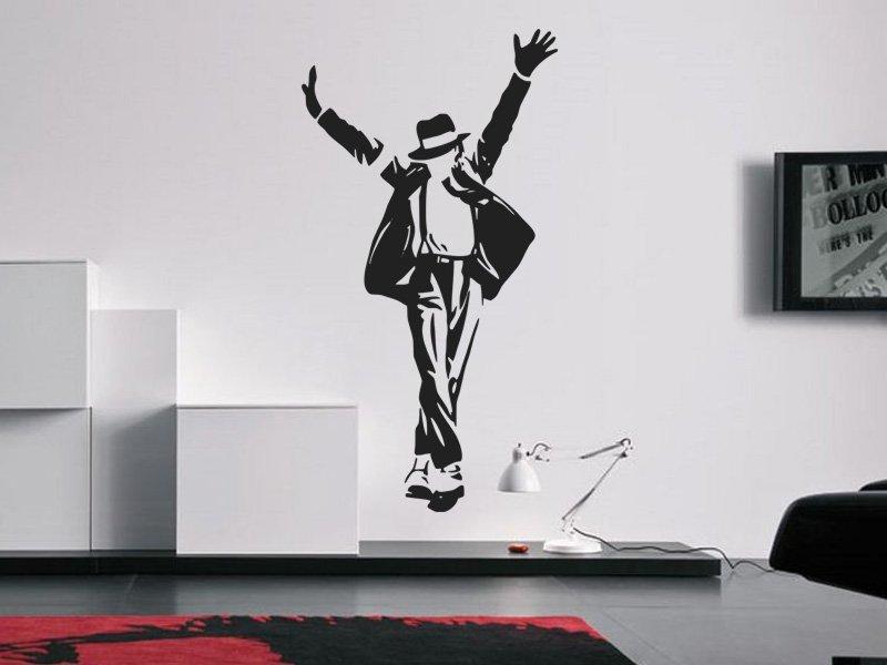 Samolepky na zeď Michael Jackson 003 - Samolepící dekorace a nálepka na stěnu