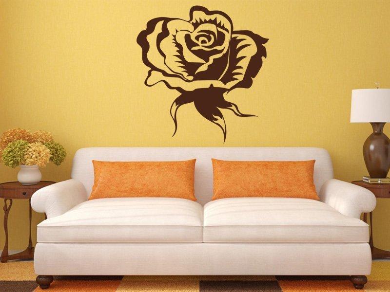 Samolepky na zeď Růže 004 - Samolepící dekorace a nálepka na stěnu