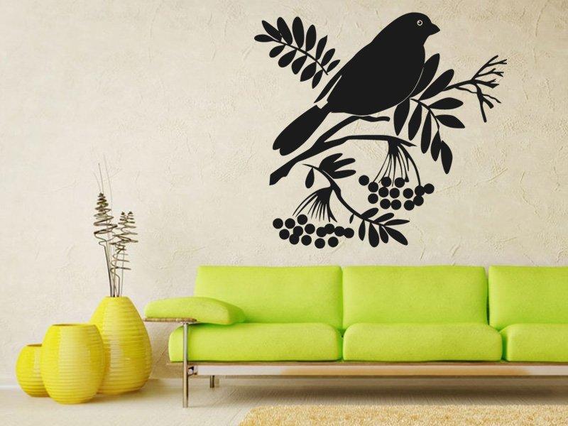 Samolepky na zeď Ptáci na větvích 003 - Samolepící dekorace a nálepka na stěnu