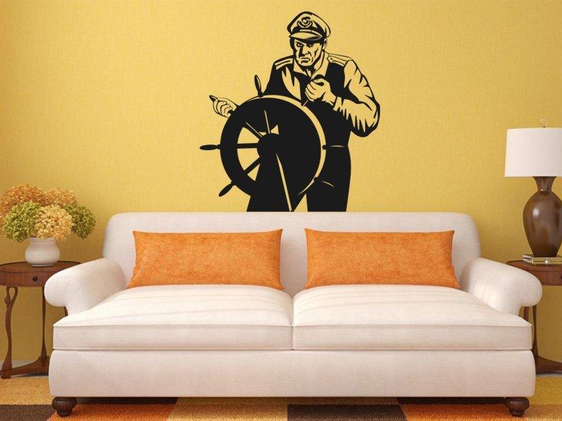 Samolepky na zeď Kapitán 001 - Samolepící dekorace a nálepka na stěnu