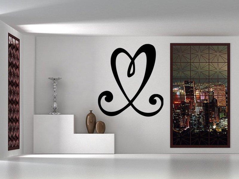 Samolepky na zeď Srdce 0256 - Samolepící dekorace a nálepka na stěnu