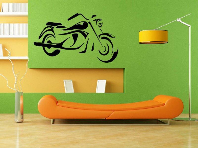 Samolepky na zeď Motorka 014 - Samolepící dekorace a nálepka na stěnu