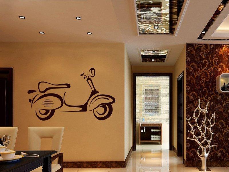 Samolepky na zeď Motorka 024 - Samolepící dekorace a nálepka na stěnu