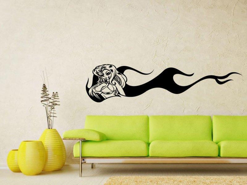 Samolepky na zeď Dívka 007 - Samolepící dekorace a nálepka na stěnu