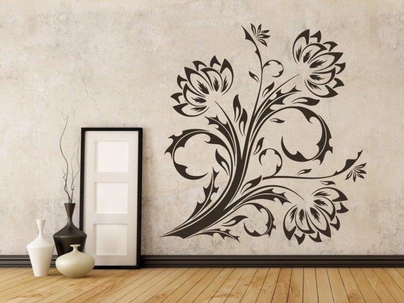 Samolepky na zeď Květiny 017 - Samolepící dekorace a nálepka na stěnu