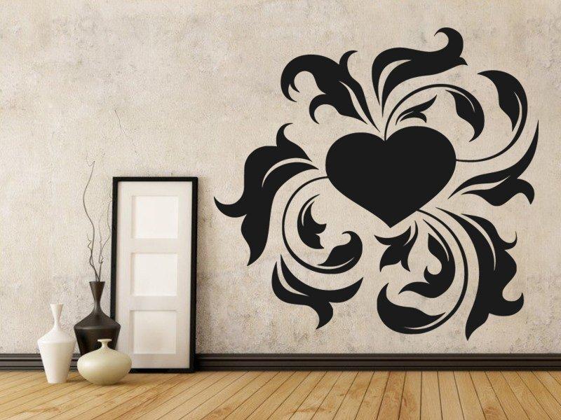 Samolepky na zeď Srdce 0265 - Samolepící dekorace a nálepka na stěnu