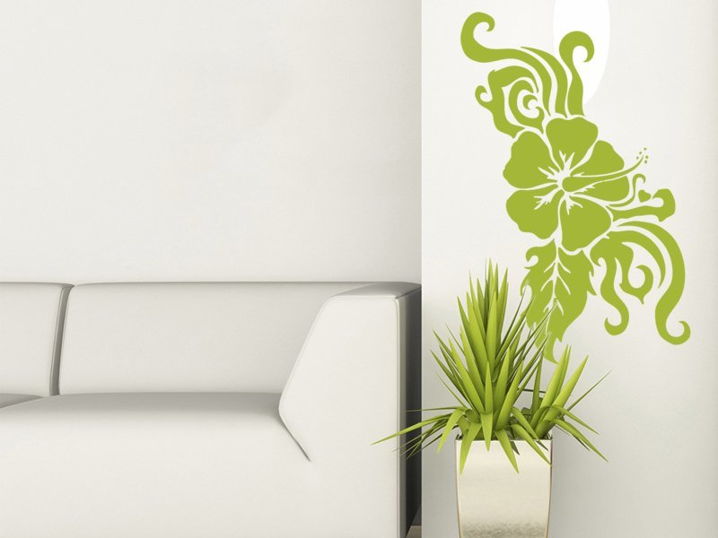 Samolepky na zeď Kytky 008 - Samolepící dekorace a nálepka na stěnu