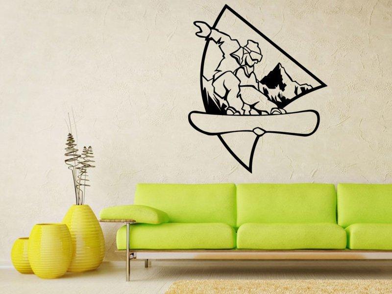 Samolepky na zeď Snowboardista 0964 - Samolepící dekorace a nálepka na stěnu