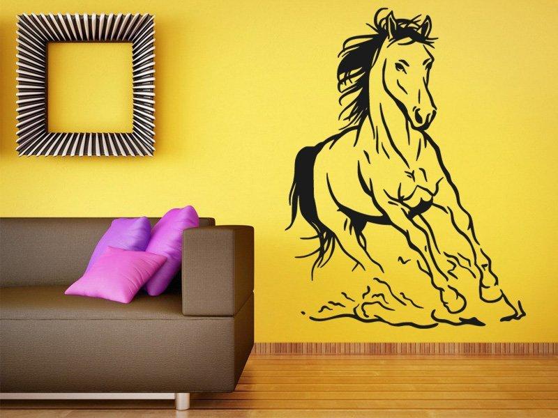 Samolepky na zeď Kůň 027 - Samolepící dekorace a nálepka na stěnu