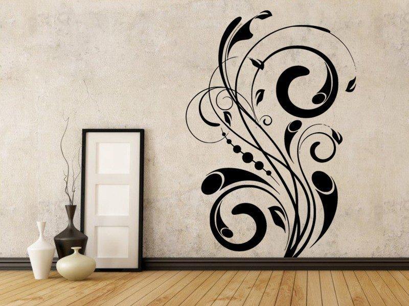 Samolepky na zeď Ornamenty z rostlin 022 - Samolepící dekorace a nálepka na stěnu