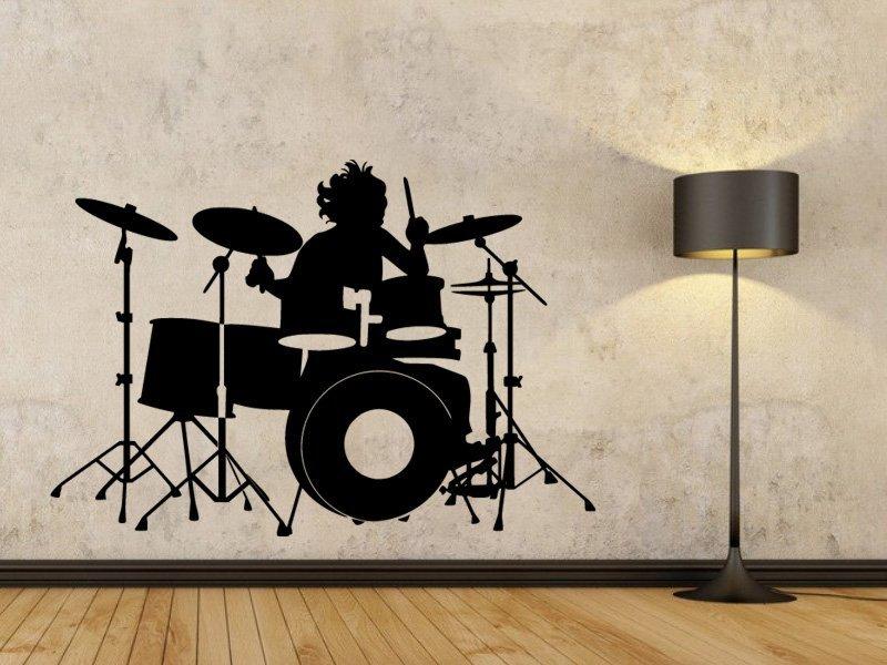 Samolepky na zeď Bubeník 001 - Samolepící dekorace a nálepka na stěnu