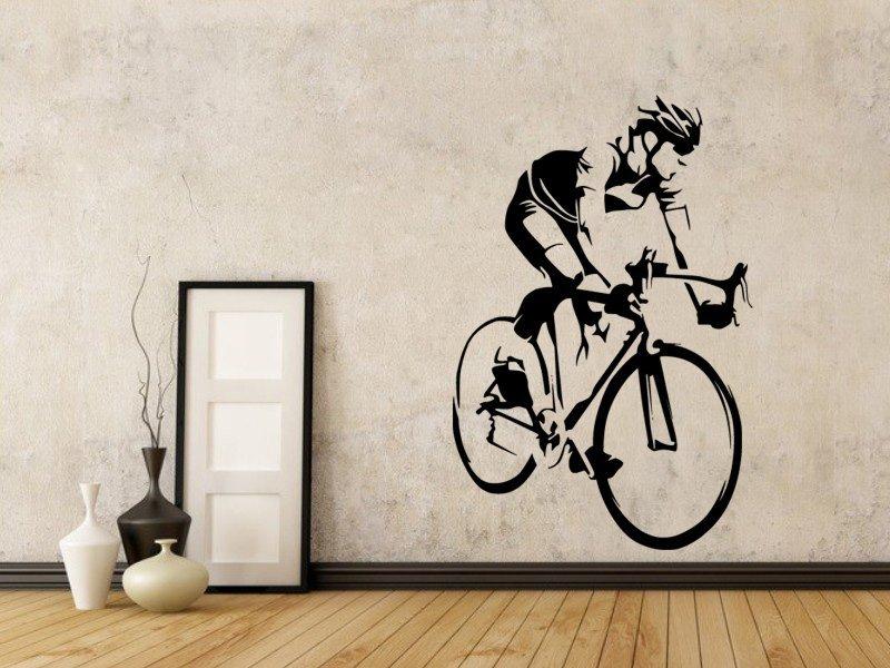 Samolepky na zeď Cyklista 1041 - Samolepící dekorace a nálepka na stěnu