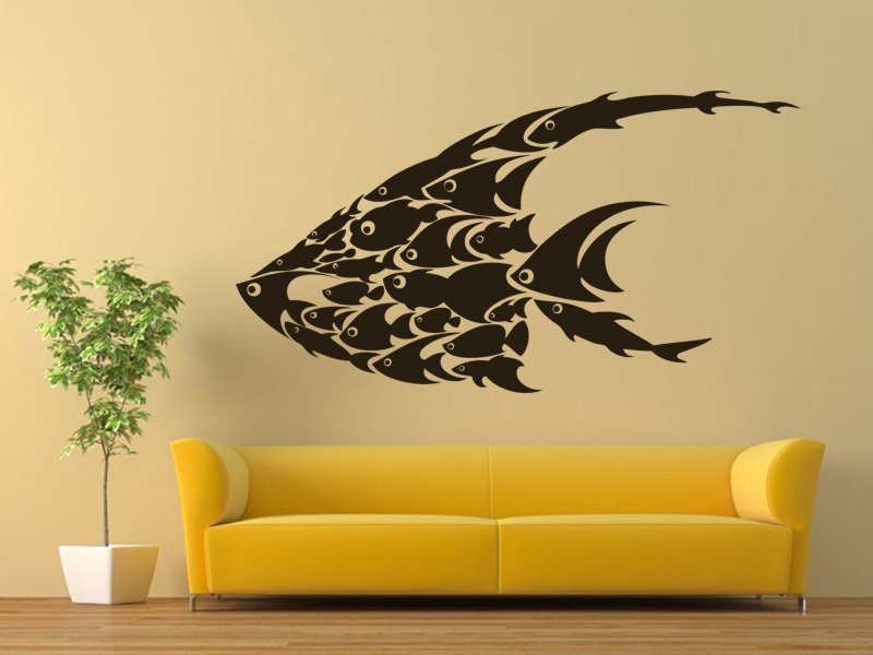Samolepky na zeď Rybičky 001 - Samolepící dekorace a nálepka na stěnu