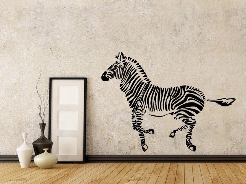 Samolepky na zeď Zebra 012 - Samolepící dekorace a nálepka na stěnu