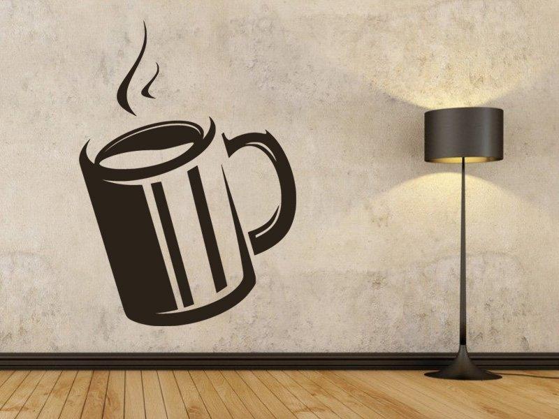 Samolepky na zeď Hrnek kávy 0049 - Samolepící dekorace a nálepka na stěnu