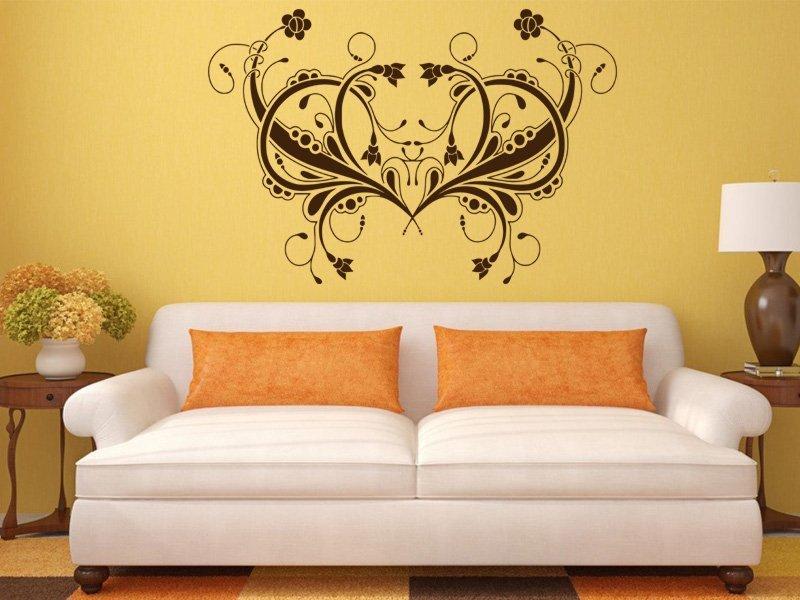 Samolepky na zeď Ornamenty z rostlin 041 - Samolepící dekorace a nálepka na stěnu