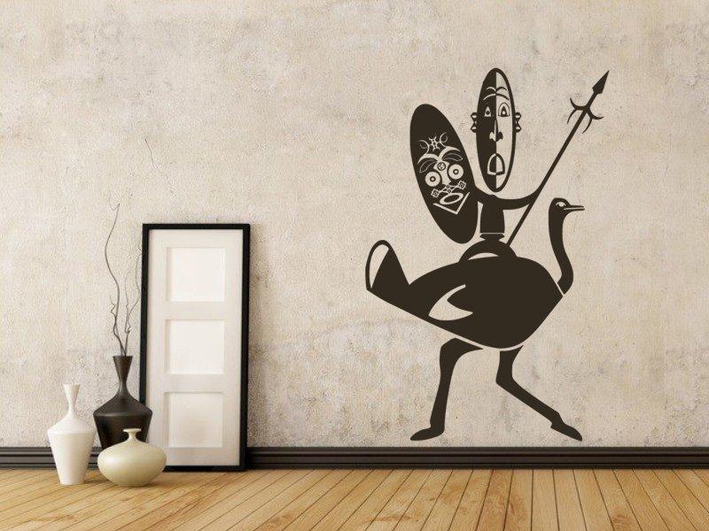 Samolepky na zeď Afričani 002 - Samolepící dekorace a nálepka na stěnu