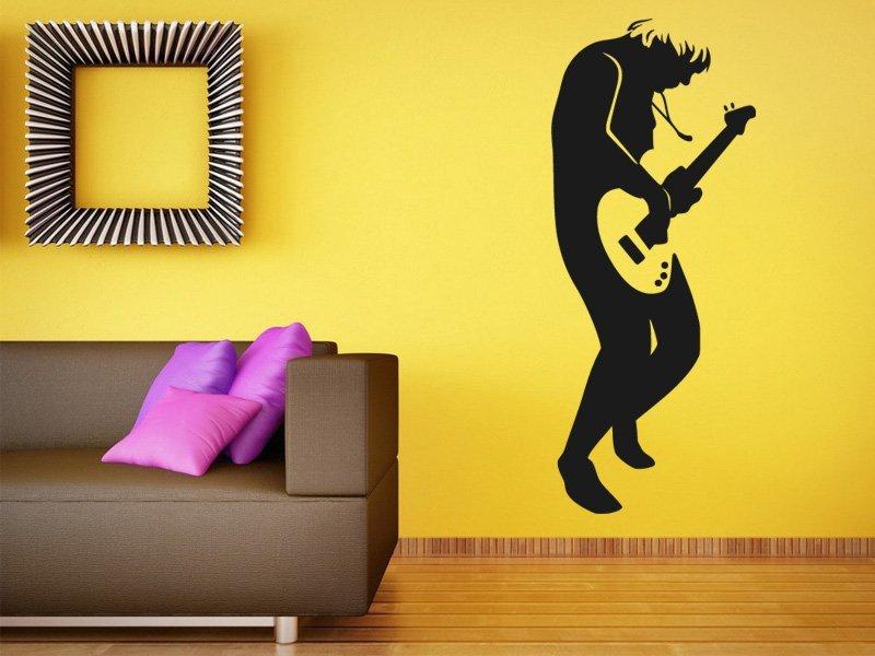 Samolepky na zeď Kytarista 008 - Samolepící dekorace a nálepka na stěnu