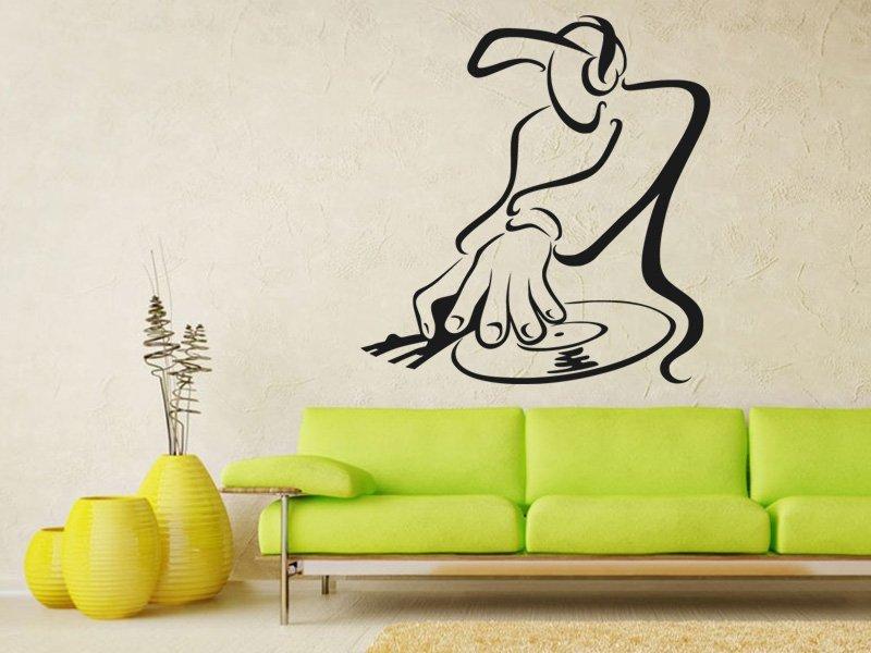 Samolepky na zeď DJ 004 - Samolepící dekorace a nálepka na stěnu