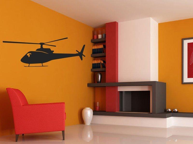 Samolepky na zeď Helikoptéra 005 - Samolepící dekorace a nálepka na stěnu