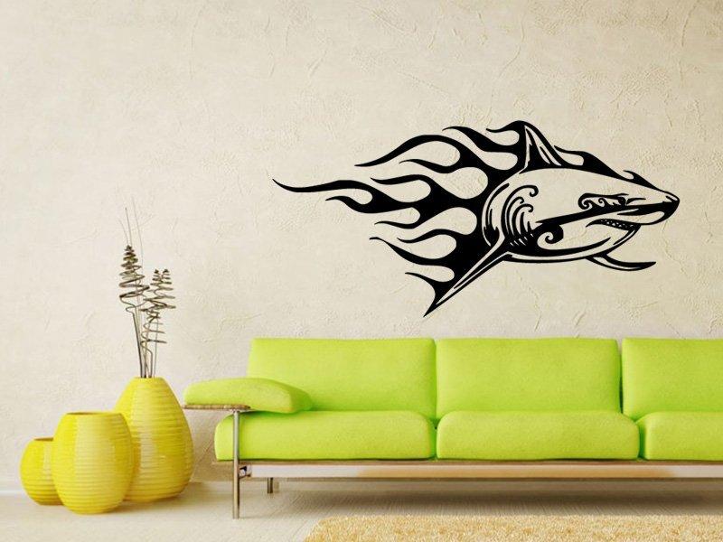 Samolepky na zeď Žralok 010 - Samolepící dekorace a nálepka na stěnu