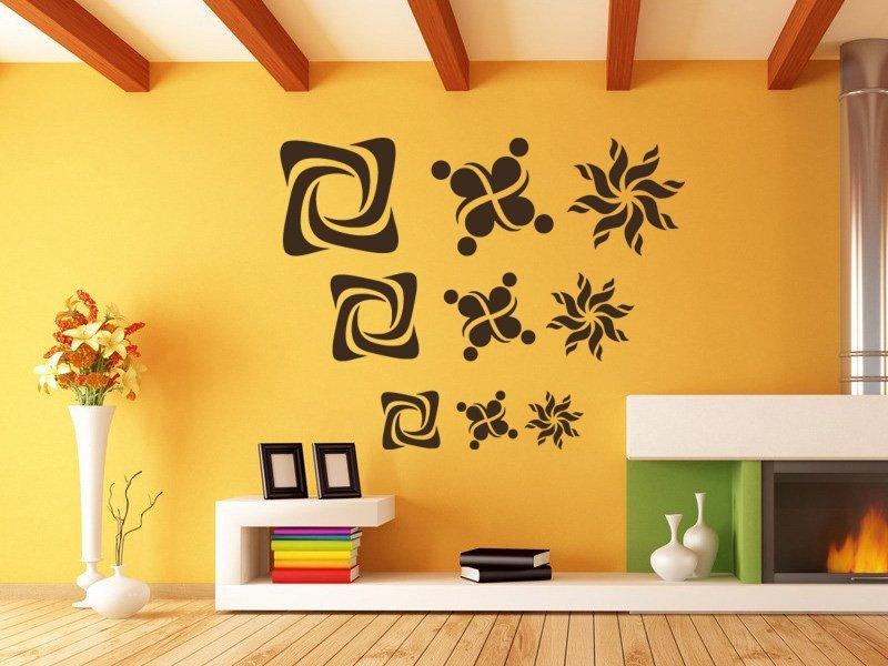 Samolepky na zeď Tvary 001 - Samolepící dekorace a nálepka na stěnu