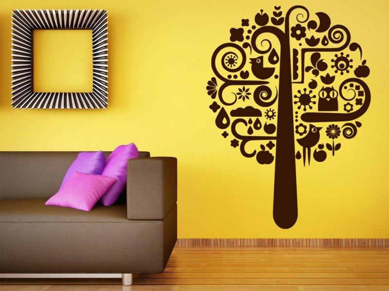 Samolepky na zeď Strom 024 - Samolepící dekorace a nálepka na stěnu
