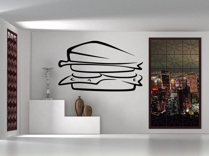 Samolepky na zeď Sandwich 0119 - Samolepící dekorace a nálepka na stěnu