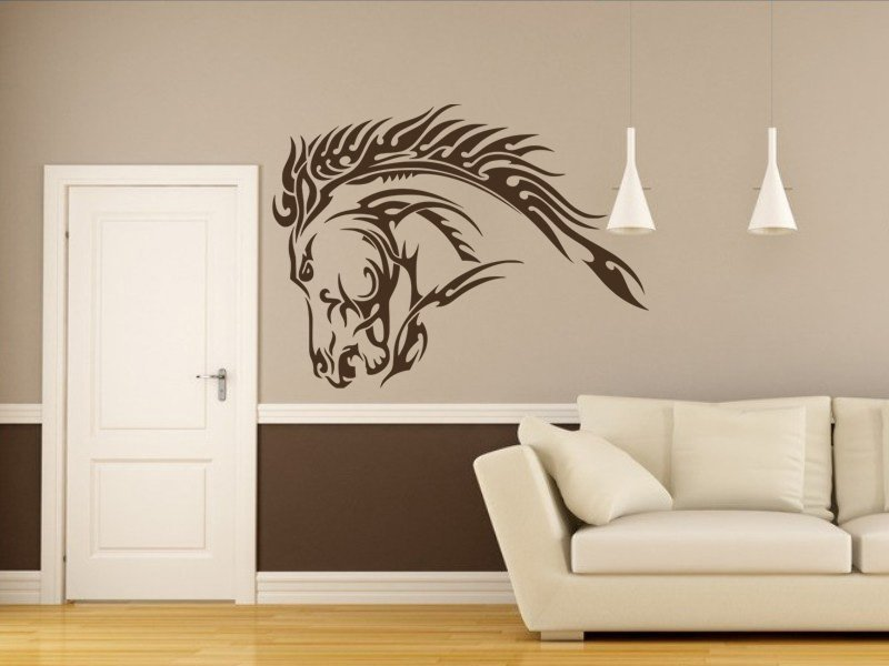 Samolepky na zeď Kůň 032 - Samolepící dekorace a nálepka na stěnu