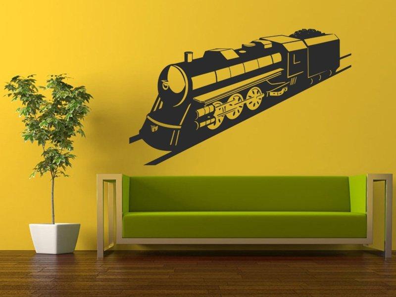 Samolepky na zeď Vlak 004 - Samolepící dekorace a nálepka na stěnu