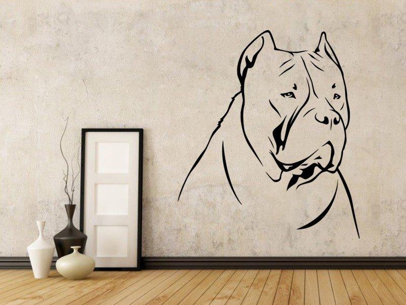 Samolepky na zeď Doga 002 - Samolepící dekorace a nálepka na stěnu