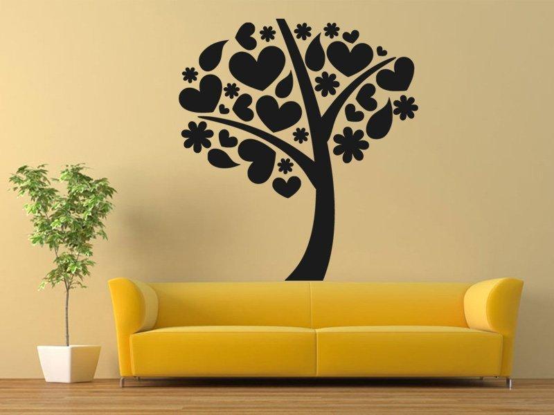 Samolepky na zeď Strom zamilovaných 0219 - Samolepící dekorace a nálepka na stěnu