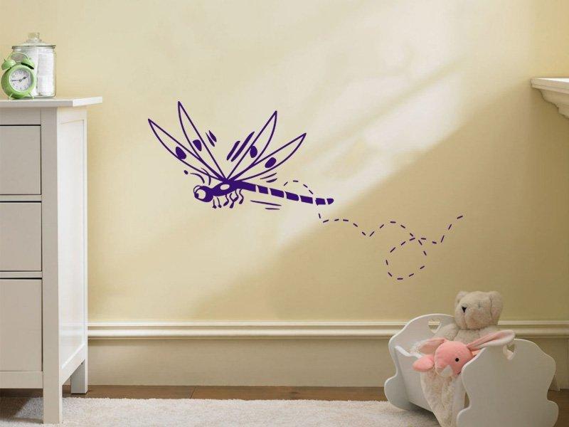 Samolepky na zeď Vážka 001 - Samolepící dekorace a nálepka na stěnu