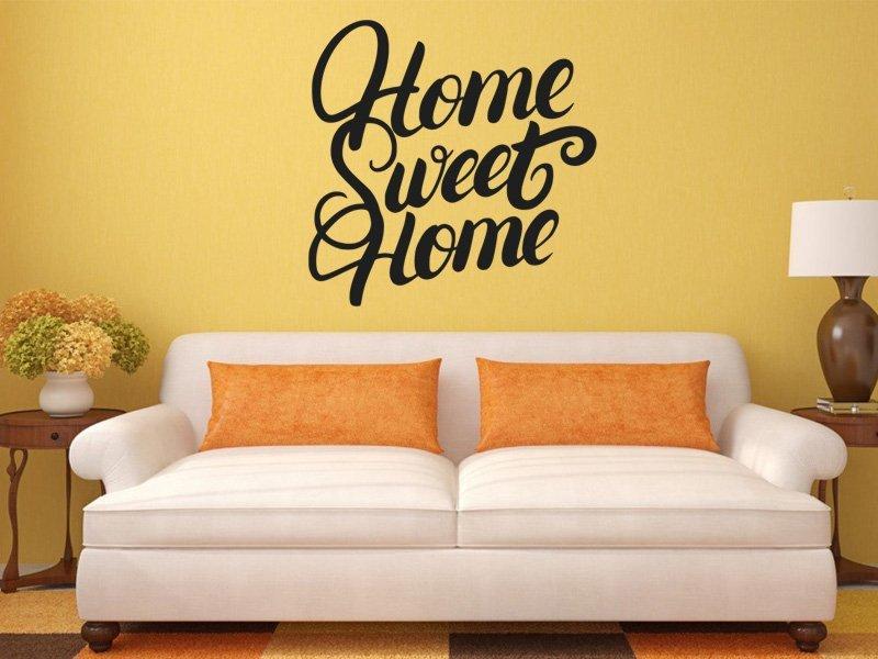 Samolepky na zeď Nápis Home Sweet Home 0633 - Samolepící dekorace a nálepka na stěnu
