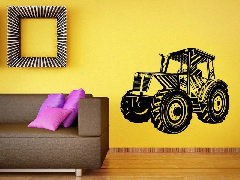Samolepky na zeď Traktor 003 - Samolepící dekorace a nálepka na stěnu