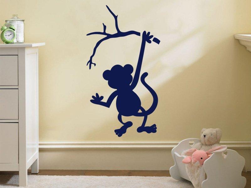Samolepky na zeď Opička 001 - Samolepící dekorace a nálepka na stěnu