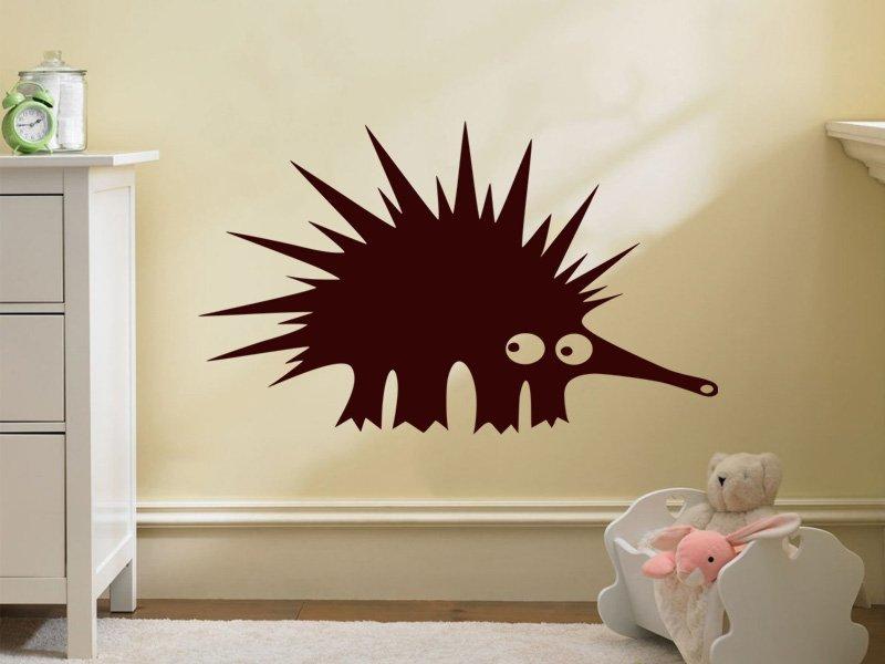 Samolepky na zeď Ježek 001 - Samolepící dekorace a nálepka na stěnu
