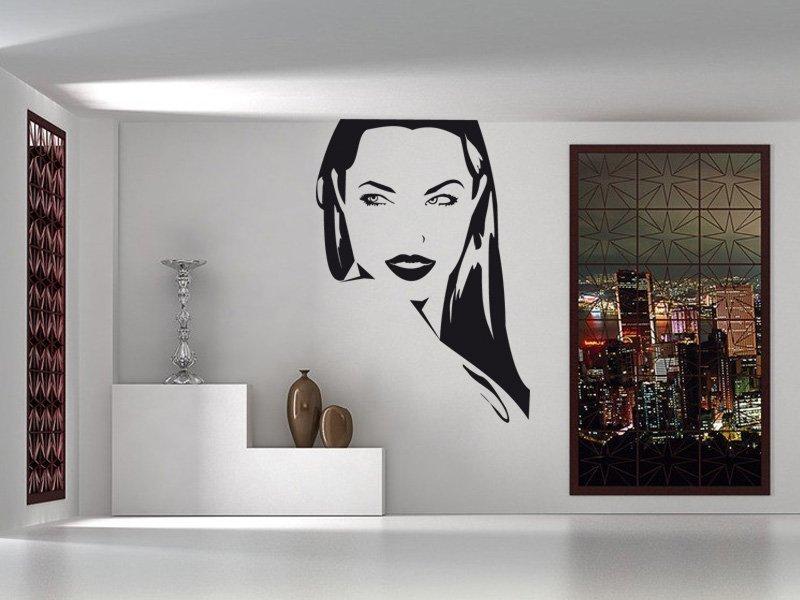 Samolepky na zeď Dívka 002 - Samolepící dekorace a nálepka na stěnu