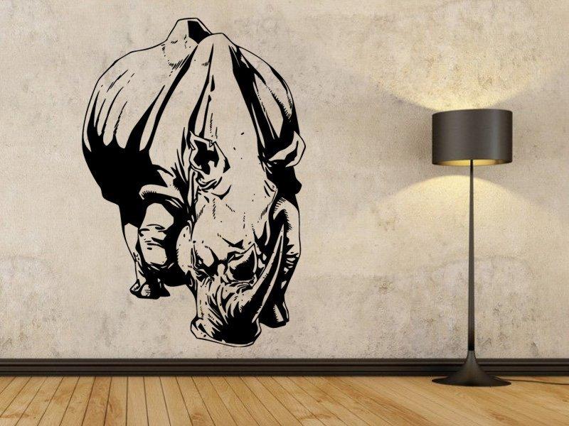 Samolepky na zeď Nosorožec 003 - Samolepící dekorace a nálepka na stěnu