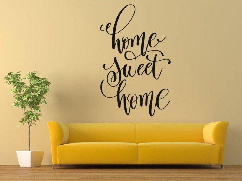Samolepky na zeď Nápis Home Sweet Home 0632 - Samolepící dekorace a nálepka na stěnu