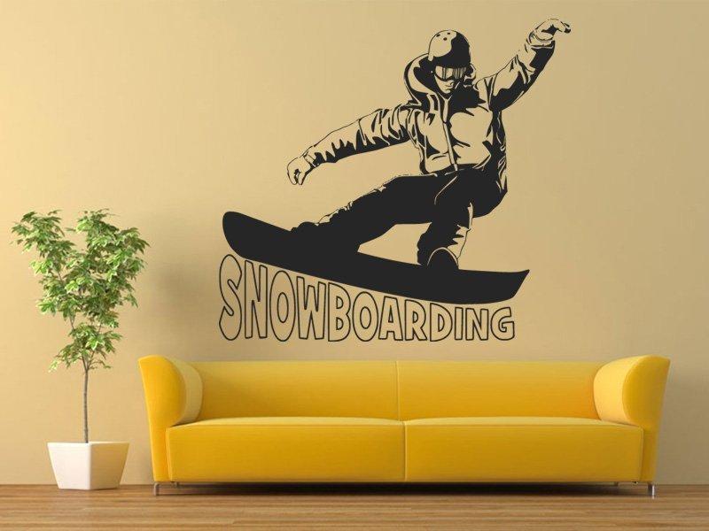 Samolepky na zeď Snowboardista 0965 - Samolepící dekorace a nálepka na stěnu