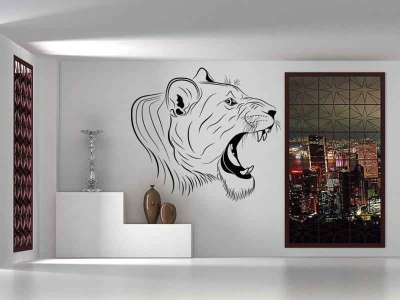 Samolepky na zeď Lev 016 - Samolepící dekorace a nálepka na stěnu