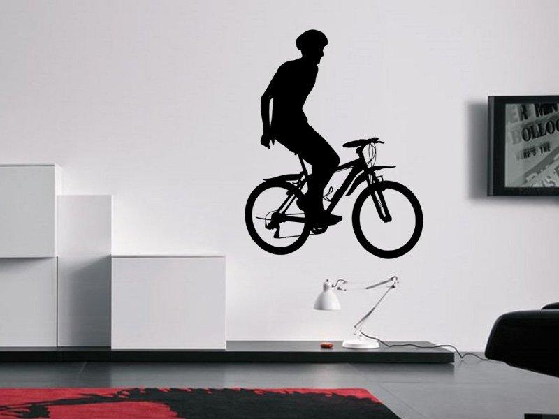 Samolepky na zeď Cyklista 1045 - Samolepící dekorace a nálepka na stěnu