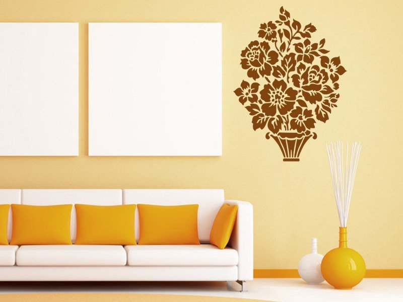Samolepky na zeď Květiny 006 - Samolepící dekorace a nálepka na stěnu