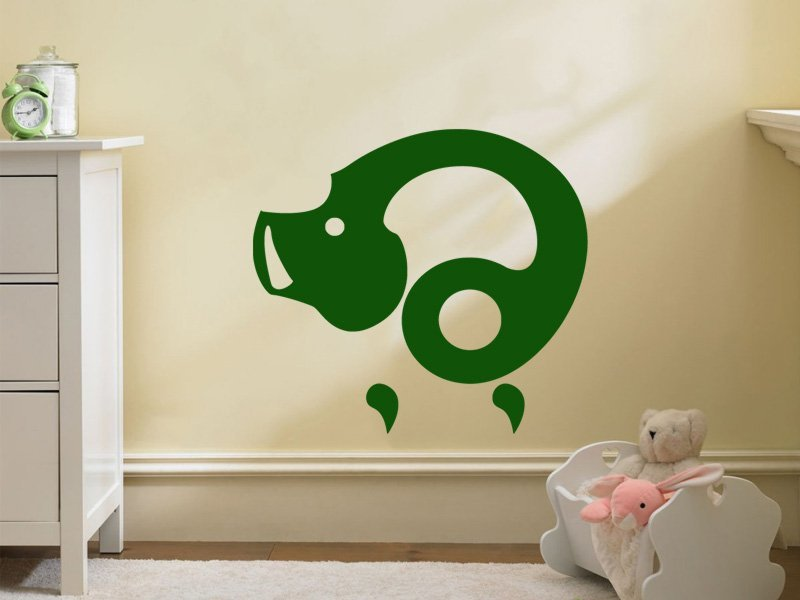 Samolepky na zeď Prasátko 006 - Samolepící dekorace a nálepka na stěnu