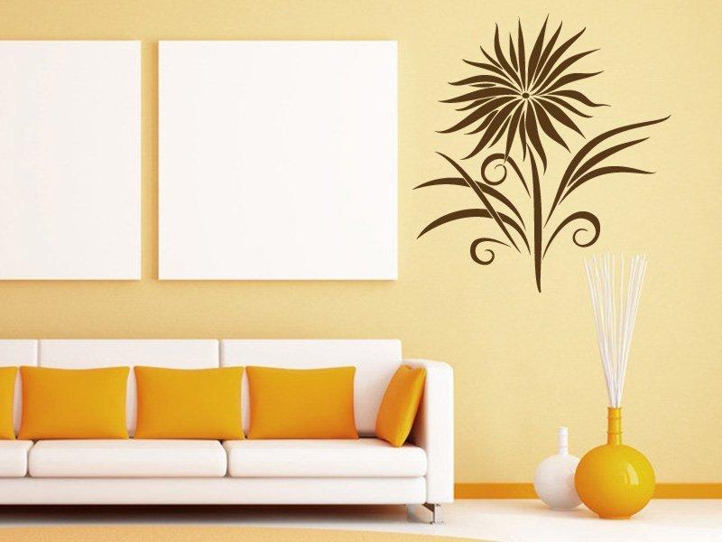 Samolepky na zeď Kytka 001 - Samolepící dekorace a nálepka na stěnu