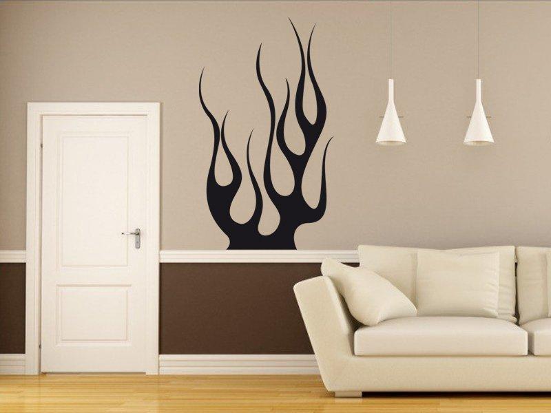 Samolepky na zeď Plameny 015 - Samolepící dekorace a nálepka na stěnu
