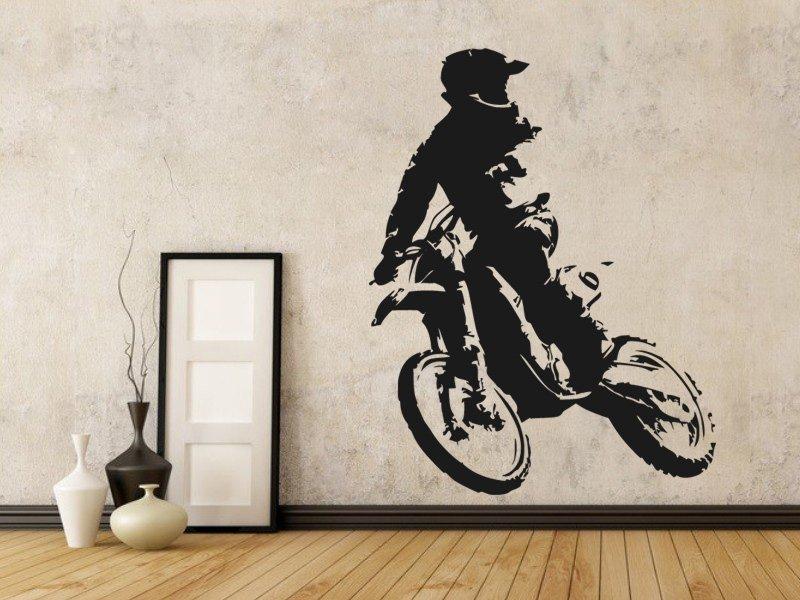 Samolepky na zeď Motorka 020 - Samolepící dekorace a nálepka na stěnu