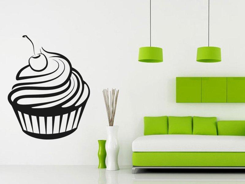 Samolepky na zeď Cupcake 0066 - Samolepící dekorace a nálepka na stěnu