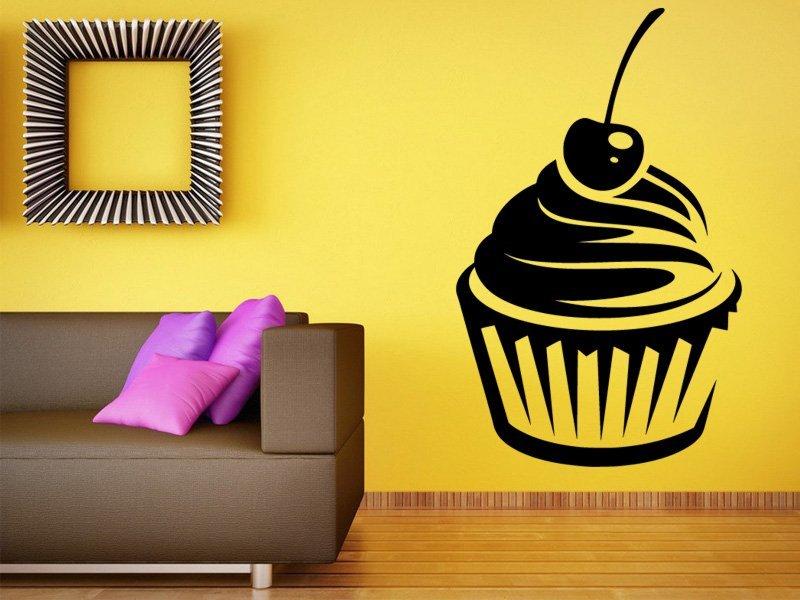 Samolepky na zeď Cupcake 0142 - Samolepící dekorace a nálepka na stěnu